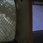 liminal, dual-stall video projection
